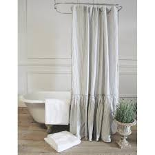 Ruffled Shower Curtains Vintage Ruffle Shower Curtain A Cottage In The City