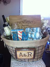bridal shower gift baskets gift basket could use bloxstyle s personalized cutting board