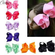 hair bows 32pcs lot 6 big hair bow solid ribbon hair bows with clip