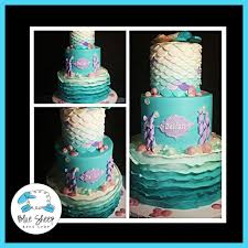 mermaid baby shower mermaid baby shower cake blue sheep bake shop