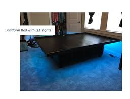 platform bed with led lights floating bed with led lights