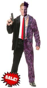 Batman Halloween Costume Mens Batman U0027s Harvey Dent Face Costume Men Halloween Sale