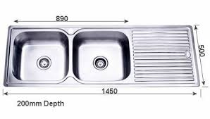 inset kitchen sink project inset kitchen sink 1450mm double bowl with draining board