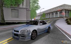 nissan skyline r34 paul walker nissan skyline gt r r34 v spec for gta san andreas