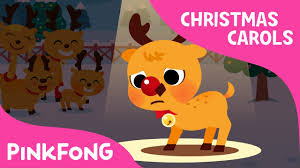 red nosed reindeer rudolph christmas carols pinkfong songs