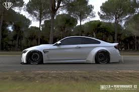 bmw m4 widebody liberty walk widens the bmw m4