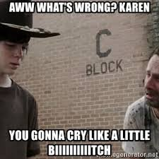 Rick Grimes Crying Meme - caaaaaaarl sad rick grimes meme generator