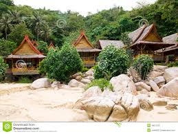 jungle bungalow in phi phi island royalty free stock photography