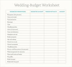 sle wedding budget 5 documents in word excel pdf