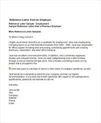 personal reference letter for a job sample personal