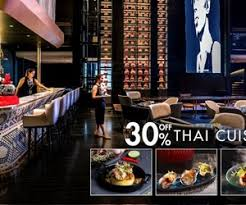 cuisine bar 30 your food bill when you book at glen bar thaipr