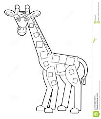 cartoon wild animal coloring page for the children stock
