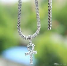 gold jewelry cross necklace images Hip hop cross pendant necklace for men jewelry with gold white jpg