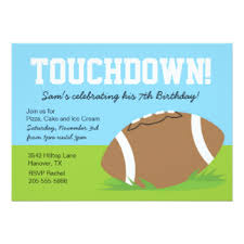 football themed birthday party invitations u0026 announcements zazzle