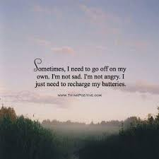 positive quotes sometimes i need to go off on my own i m not