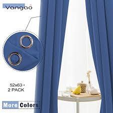 Royal Blue Blackout Curtains Vangao Light Blocking Royal Blue Blackout Curtains Boy Room