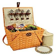 picnic basket for 4 picnic baskets weekend wine bags and insulated backpacks bed