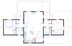 55 open floor plans single level home with plans bedroom house