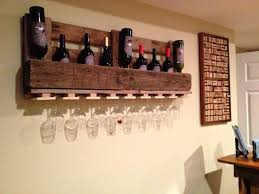 wine glass holder wall shelf