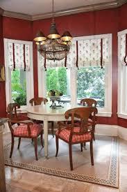 dinning flat roman shades white roman shades dining room window