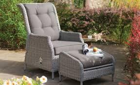 Kettler Jarvis Recliner Garden Chair And Footstool Kettler Jarvis Recliner With Footstool