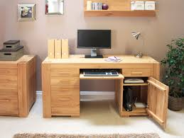 Grey Wooden Desk Superb Design Ideas Using Grey Loose Curtains And Rectangular