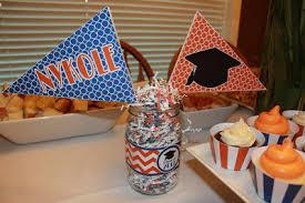 easy graduation centerpieces easy graduation centerpieces personalized blue and orange