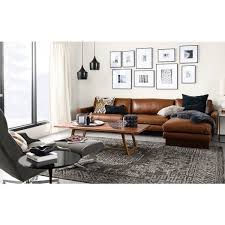 Living Room Ideas With Leather Furniture Modern Brown Leather Sofa Sofas Couches Allmodern Thedailygraff