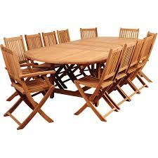 home decor wonderful teak patio set u0026 amazonia highland park 12