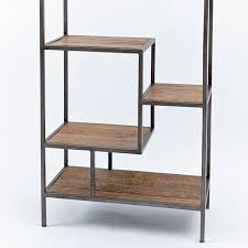reclaimed pine iron bookcase west elm