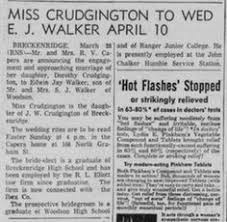 Abilene Reporter News From Abilene Texas On March 10 1955 by Sally Everett Death Notice Abilene Reporter News 5 Dec 1951