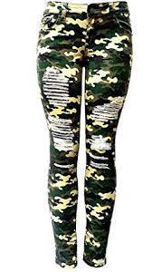 Plus Size Ripped Leggings Iq Womens Plus Size Stretch Distressed Ripped Camo Camouflage