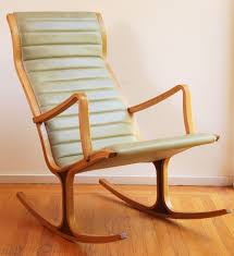 Outdoor Vinyl Rocking Chairs Tendo Mokko Heron Rocking Chair Following Reupholstery In Semi