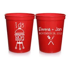favor cups engagement party favors i do bbq personalized wedding cups