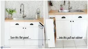 how to turn a base cabinet into a kitchen island diy kitchen storage turn a filler panel into a pull