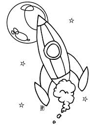 rocket ship moon coloring download u0026 print