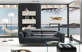 wonderful minimalist living room fresh design black white mural