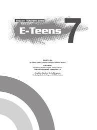 e teens teacher u0027s guide 7 2015 reading comprehension reading