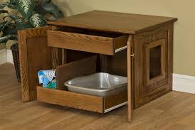 litter box end table enclosed cat litter box by dutchcrafters amish furniture