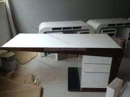 High Gloss White Desk by Shenzhen Factoryhigh Gloss Office Desks With Modern Design High