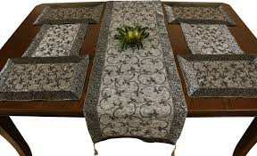 table runner and placemat set glass dishes for dairy