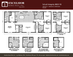 schult modular home floor plans schult integrity 6832 55 excelsior homes west inc