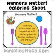 thanksgiving bible lesson on manners