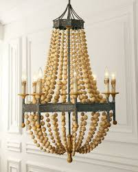 Horchow Chandeliers Regina Andrew Design Wood Bead 8 Light Chandelier
