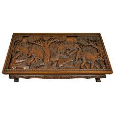 20th Century Vietnamese Hand Carved Asian Coffee Low Table With