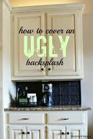 Kitchen Backsplash For Renters - how to cover an ugly kitchen backsplash way back wednesdays