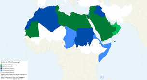 arab countries map list of countries where arabic is an official language