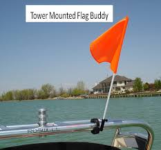 Boat Flag Poles Amazon Com Flag Buddy Tower Mounted Rotating Skier Down Flag