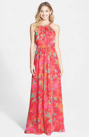 wedding guest dresses for summer eliza j geometric print maxi dress maggy pleated a line