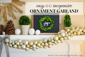 diy ornament garland the chronicles of home